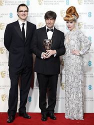 Thomas Newman (C), winner of the Best Original Music award for Skyfall , poses with presenters David Morrissey (L) and Paloma Faith pose in the Press Room of the BAFTA British Academy Film Awards 2013 at the Royal Opera House in London, Britain, Sunday February 10, 2013. Photo by Imago / i-Images. UK ONLY..