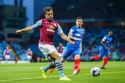 Joe Cole of Aston Villa in action - Photo mandatory by-line: Rogan Thomson/JMP - 07966 386802 - 27/08/2014 - SPORT - FOOTBALL - Villa Park, Birmingham - Aston Villa v Leyton Orient - Capital One Cup Round 2.