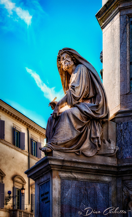 """The prophet Isaiah at the base of the Column of the Immaculate Conception - Rome""..."