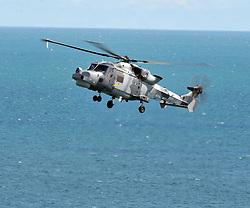 Royal Navy Augusta Westland 159 Wildcat, Black Cats Helicopter,  Bournemouth Air Festival 2015, Sea Front, Bournemouth, Sunday 23/8/2015