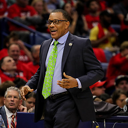 Oct 19, 2018; New Orleans, LA, USA; New Orleans Pelicans head coach Alvin Gentry during the first quarter against the Sacramento Kings at the Smoothie King Center. The Pelicans defeated the Kings 149-129. Mandatory Credit: Derick E. Hingle-USA TODAY Sports