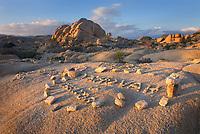 Illegal cairns near Jumbo Rocks Campground, Joshua Tree National Park California