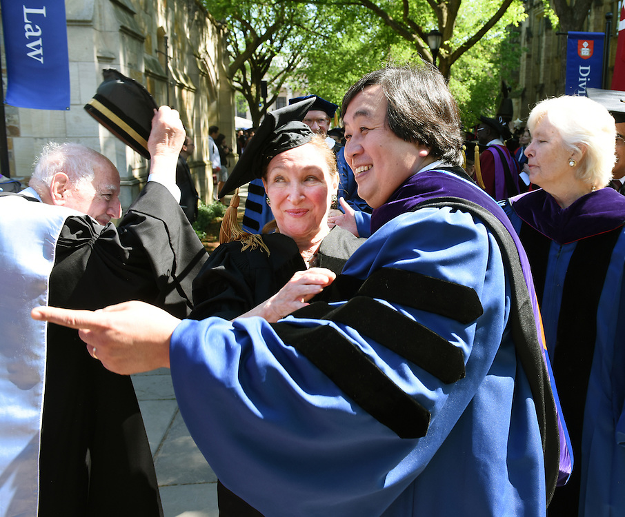 May 23, 2016 New Haven<br /> The Yale Law School during commencement exercises. Rosalie Silberman Abella and Harold Koh.