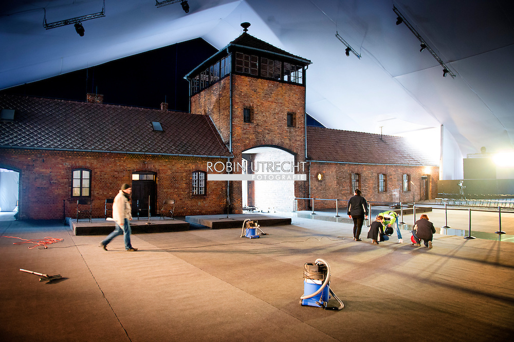AUSCHWITZ - Preparations in Camp Birkenau for the 70 jaarige Auschwitz Memorial. COPYRIGHT ROBIN UTRECHT