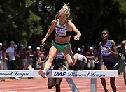 Jun 30, 2019; Stanford, CA, USA; Emma Coburn (USA) places second in the women's 3,000m min 9:04.90 during the 45th Prefontaine Classic at Cobb Track & Angell Field.