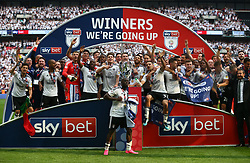 May 26, 2018 - London, England, United Kingdom - Fulham players celebrate they win.After the Championship Play-Off Final match between Fulham and Aston Villa at Wembley, London, England on 26 May 2018. (Credit Image: © Kieran Galvin/NurPhoto via ZUMA Press)