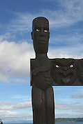 Maori Carving, Lake Taupo, North Island, New Zealand<br />