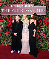 Vanessa Redgrave, Joely Richardson, Daisy Bevan, 64th Evening Standard Theatre Awards, Theatre Royal Drury Lane, London UK, 18 November 2018, Photo by Richard Goldschmidt