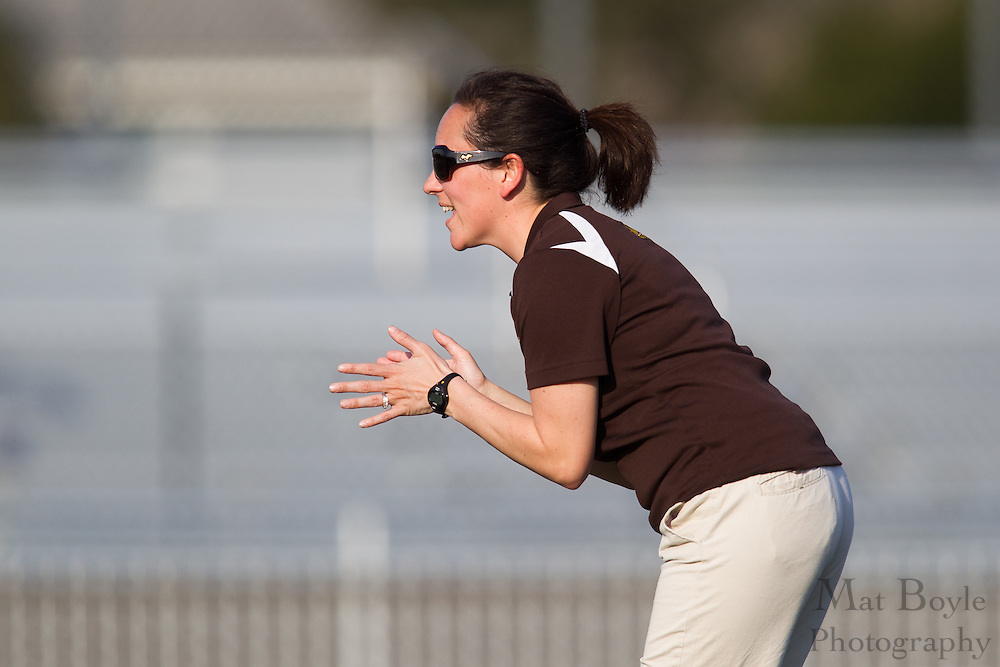 Rowan University Head Coach Lindsay Delaney - Drew University Women's Lacrosse at Rowan University at Richard Wacker Stadium  in Glassboro, NJ on Tuesday April 9, 2013. (photo / Mat Boyle)