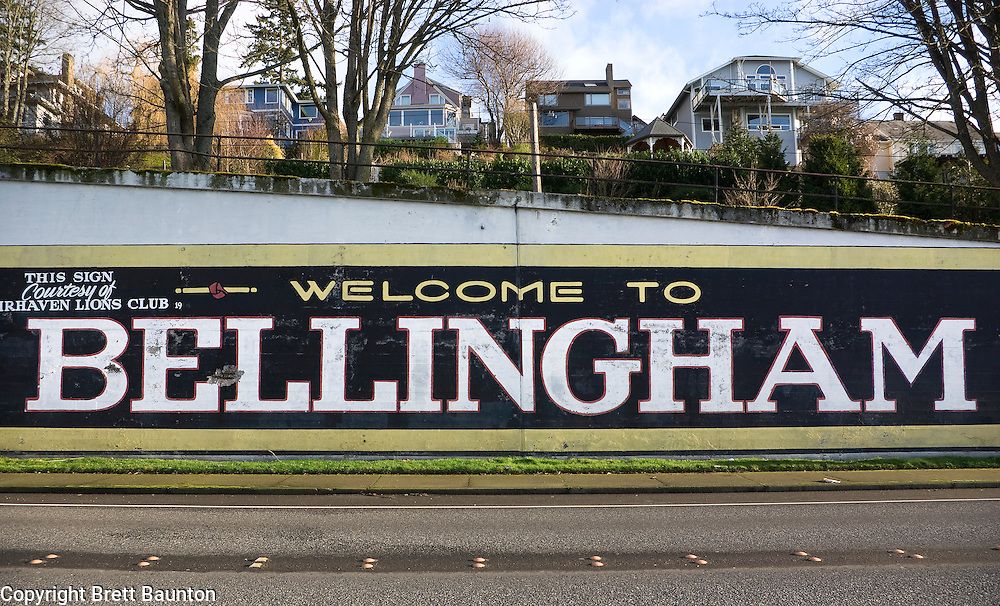 Bellingham sign in Fairhaven