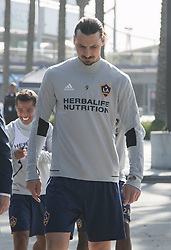 March 30, 2018 - Carson, California, U.S - Zlatan Ibrahimovic #9 of the LA Galaxy arrives to his first practice on Friday March 30, 2018 at the StubHub Center in Carson, California. (Credit Image: © Prensa Internacional via ZUMA Wire)