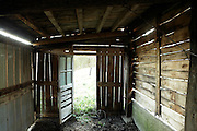 old empty small wooden stable