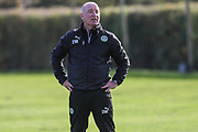 Forest Green Rovers physio Ian Weston during the Forest Green Rovers training session at Stanley Park, Chippenham, United Kingdom on 6 November 2017. Photo by Shane Healey.