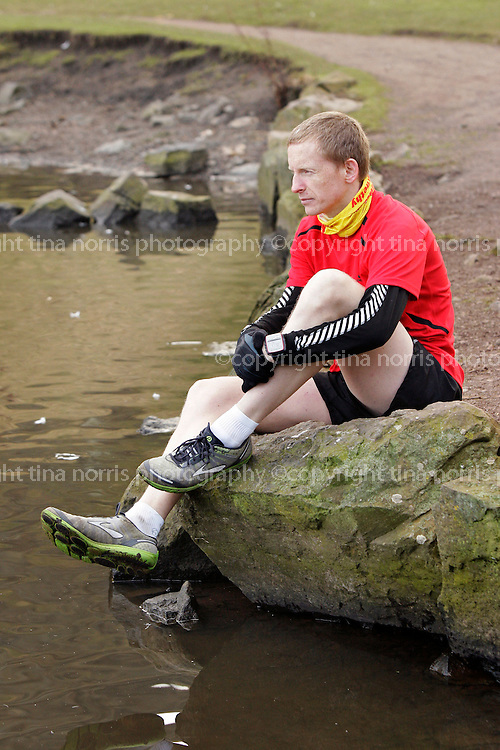 Michael Nowicki who begins a 15-day run from London to the Royal Edinburgh Hospital on 29th April to raise funds for the Scottish Association for Mental Health. He is also promoting their Get Active and Suicide Prevention Programmes in the light of his 19 year-old cousin's suicide. ©TINA NORRIS info@tinanorris.co.uk No unauthorised use or reproduction including web use. All repros payable to Tina.