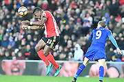 Lamine Kone (23) Sunderland AFC lears ball during the Premier League match between Sunderland and Leicester City at the Stadium Of Light, Sunderland, England on 3 December 2016. Photo by Ian Lyall.