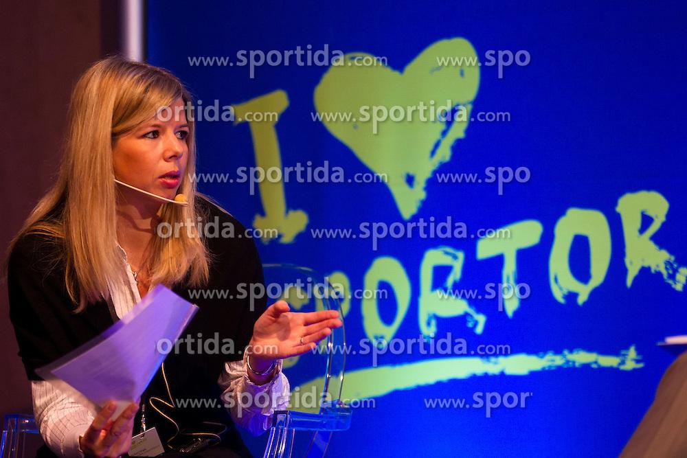 Moderator Simona Kruhar Gaberscek during sports marketing and sponsorship conference Sporto 2012, on November 26, 2012 in Hotel Slovenija, Congress centre, Portoroz / Portorose, Slovenia. (Photo By Vid Ponikvar / Sportida.com)