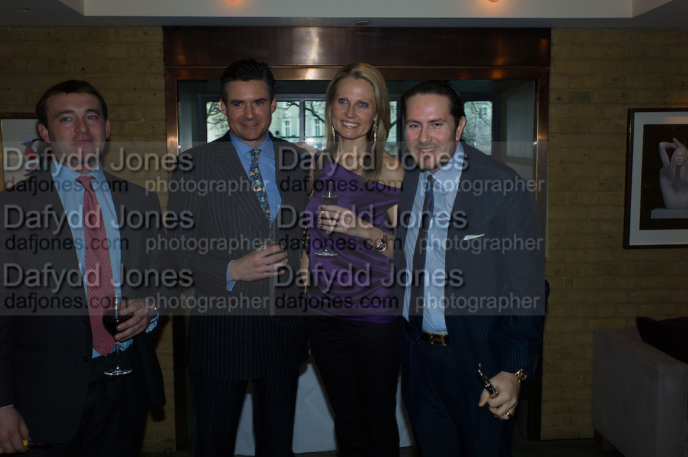 ALEX TULLOCH;  ED TAYLOR; JAMES STUNT Spectator Life - 3rd birthday party. Belgraves Hotel, 20 Chesham Place, London, SW1X 8HQ, 31 March 2015