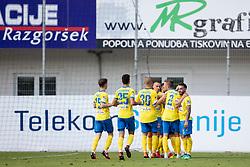 Players of NK Celje celebrate goal during football match between NK Celje and ND Gorica in 2nd Round of Prva liga Telekom Slovenije 2018/19, on July 27, 2018 in Sadion Z'Dezele, Celje, Slovenia. Photo by Urban Urbanc / Sportida