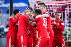23.02.2019, Allianz Arena, Muenchen, GER, 1. FBL, FC Bayern Muenchen vs Hertha BSC, 23. Runde, im Bild Javi Martinez (FC Bayern Muenchen) jubelt nach seinem Tor zum 1:0 // during the German Bundesliga 23th round match between FC Bayern Muenchen and Hertha BSC at the Allianz Arena in Muenchen, Germany on 2019/02/23. EXPA Pictures &copy; 2019, PhotoCredit: EXPA/ Eibner-Pressefoto/ Tom Weller<br /> <br /> *****ATTENTION - OUT of GER*****
