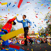 POLK COUNTY, FL – October 15, 2011 -- LEGOLAND Florida general manager Adrian Jones celebrates with thousands as they celebrate the grand opening of Central Florida's newest theme park, LEGOLAND® Florida on Saturday, October 15, 2011.  LEGOLAND® Florida provides interactive entertainment for families with children ages 2-12. (PHOTO/LEGOLAND Florida, Merlin Entertainments Group, Chip Litherland).
