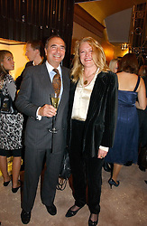 RANDOLPH KENT and LAURA SANDYS at a party to ceebrate the bublication of 'The Ravenscar Dynasty' by Barbara Taylor Bradford hld at the newly opened Mousaieff Store, 172 New Bond Street, London on 28th September 2006.<br /><br />NON EXCLUSIVE - WORLD RIGHTS