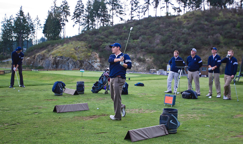 Camosun College Golf Team practices at Bear  Mountain in Victoria B.C. Canada.