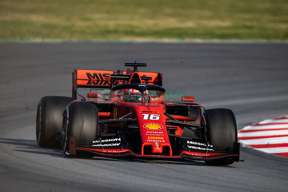 February 28, 2019 - Montmelo, BARCELONA, Spain - CATALONIA, BARCELONA, SPAIN, 28 February. #16 Charles LECLERC driver of Scuderia Ferrari during the winter test at Circuit de Barcelona Catalunya. (Credit Image: © AFP7 via ZUMA Wire)