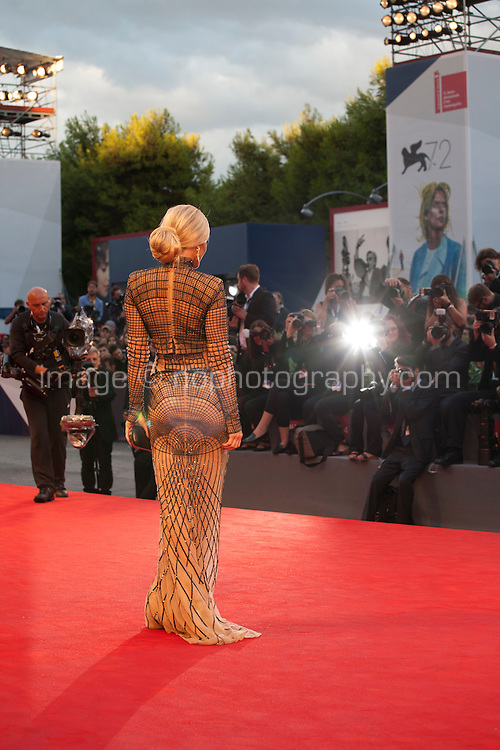 Hofit Golan with photographers at the gala screening for the film The Danish Girl  at the 72nd Venice Film Festival, Saturday September 5th 2015, Venice Lido, Italy.