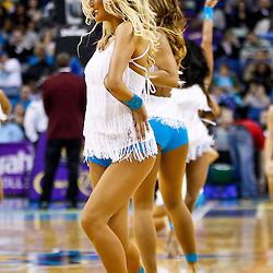 December 17, 2010; New Orleans, LA, USA; New Orleans Hornets Honeybees dancers perform during the first half of a game against the Utah Jazz at the New Orleans Arena.  The Hornets defeated the Jazz 100-71. Mandatory Credit: Derick E. Hingle