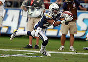 San Diego Chargers cornerback Antoine Cason (20) breaks up a pass during the NFL football game against the Washington Redskins, January 3, 2010 in San Diego, California. The Chargers won the game 23-20. ©Paul Anthony Spinelli