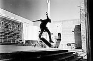 Spain Barcellona - Skatern in downtown Barcellona..Ph. Roberto Salomone