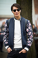 Floral Sleeve Bomber Jacket, Outside Fendi