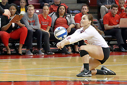 23 October 2015:  Kaitlyn Hunt(17) during an NCAA women's volleyball match between the Wichita State Shockers and the Illinois State Redbirds at Redbird Arena in Normal IL (Photo by Alan Look)