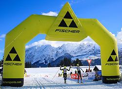 31.01.2015, Bad Mitterndorf, AUT, 36. Internationaler Steiralauf, 50 km Freie Technik, im Bild die ex aequo Drittplatzierten Hannes Zeichen (AUT, Nr. 109) und Roland Galler (AUT, Nr. 5) // 3rd placed Hannes Zeichen of Austria (Nr. 109) and Roland Galler of Austria (Nr. 5) at the finish line of the 36th international Steiralauf 50 km Freestylerace in Bad Mitterndorf, Austria on 2015/01/31. EXPA Pictures © 2015, PhotoCredit: EXPA/ Martin Huber