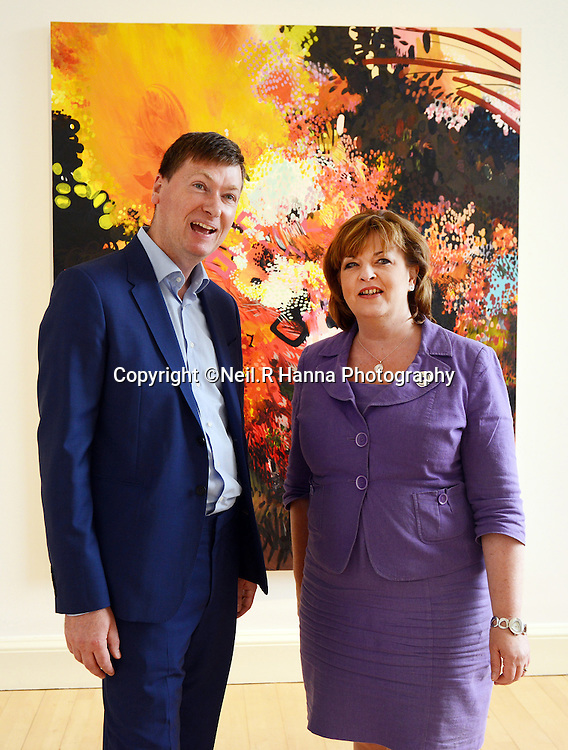 Private View for GENERATION &ndash; Thursday 26 June 6.30pm at Modern One and then 7pm at SNG. Photography of the Fiona Hyslop, Culture Secretary viewing the exhibition and speeches.<br /> <br /> Neil Hanna Photography<br /> www.neilhannaphotography.co.uk<br /> 07702 246823