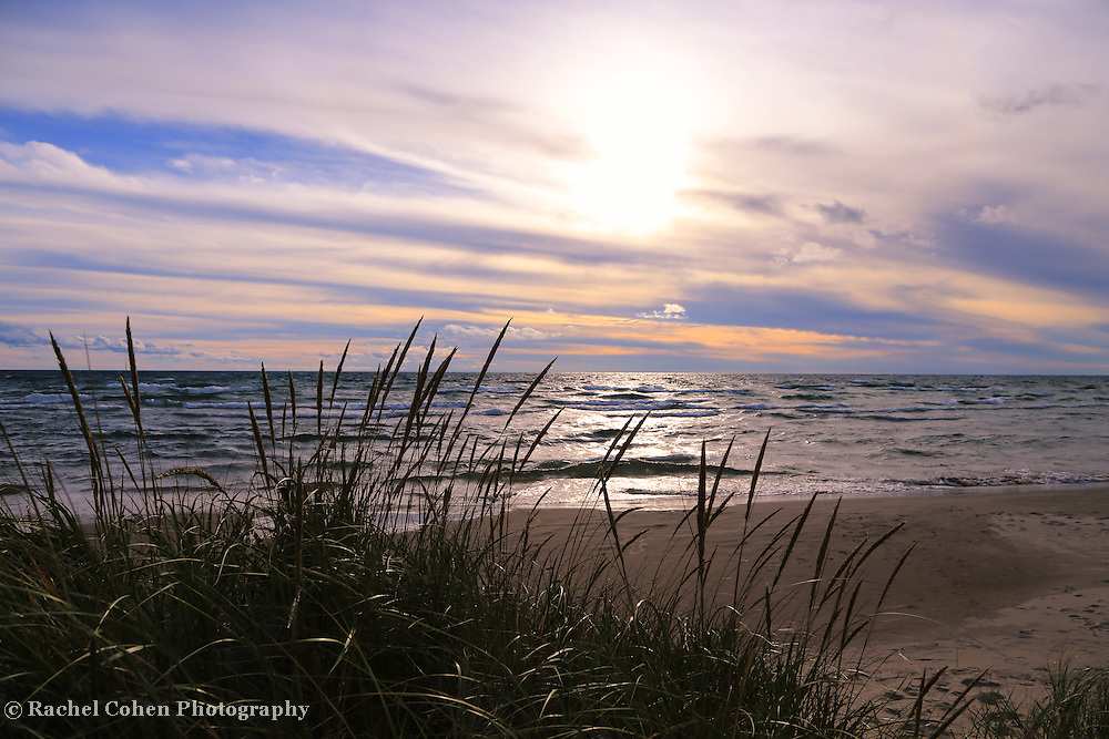 &quot;Beyond Grasses Tall&quot;<br /> <br /> Lovely calming scene on Lake Michigan!!<br /> <br /> The Great Lakes by Rachel Cohen