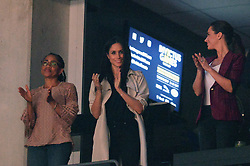 Meghan Markle, centre, watches the closing ceremonies of the Invictus Games in Toronto, ON, Canada, on Saturday, September 30, 2017. Photo by Nathan Denette/CP/ABACAPRESS.COM