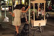 Flower cart outside Ammo Gallery on Royal Street