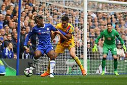 Michy Batshuayi of Chelsea under pressure - Mandatory by-line: Jason Brown/JMP - 01/04/2017 - FOOTBALL - Stamford Bridge - London, England - Chelsea v Crystal Palace - Premier League
