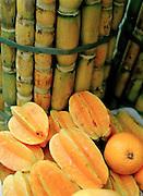 Star fruit and sugar cane