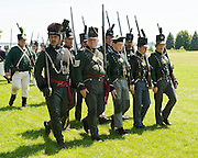 The Battle of Crysler's Farm  U.S. forces march past crowd at end of Chippawa re-enactment  The Battle of Crysler's Farm.
