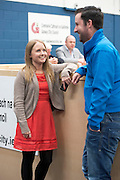 24/05/2014 24 year old Mairead Farrell (Sine Fein ) (Niece of Gibralter Mairead Farrell) and Conor Stitt, her Communications manager,  elected to Galway City Council for the first time at the Count Centre in Westside Community centre. Photo:Andrew Downes . Photo:Andrew Downes