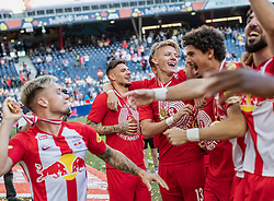 26.05.2019, Red Bull Arena, Salzburg, AUT, 1. FBL, FC Red Bull Salzburg Meisterfeier, im Bild Patrick Farkas (FC Red Bull Salzburg), Hannes Wolf (FC Red Bull Salzburg), Andre Ramalho (FC Red Bull Salzburg) // during the Austrian Football Bundesliga Championsship Celebration at the Red Bull Arena in Salzburg, Austria on 2019/05/26. EXPA Pictures © 2019, PhotoCredit: EXPA/ JFK