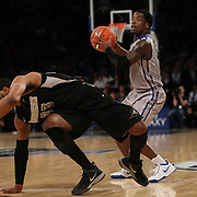 Austin Chatman, Creighton, in action during the Creighton Bluejays Vs Providence Friars basketball game during the Big East Conference Tournament Final at Madison Square Garden, New York, USA. 15th March 2014. Photo Tim Clayton