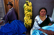 An Otavalan Indian family at the weekly market.