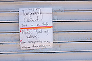 Brooklyn, NY 2 April 2020. A sign taped to the shuttered Threading Spa on Flatbush Avenue in the Midwood neighborhood fo Brooklyn notes the business is closed, and asks that patrons visit the business's website.