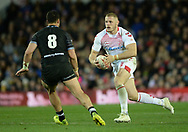 Thomas Burgess of England runs at Jesse Bromwich of New Zealand during the Autumn International Series match at Elland Road, Leeds<br /> Picture by Richard Land/Focus Images Ltd +44 7713 507003<br /> 11/11/2018