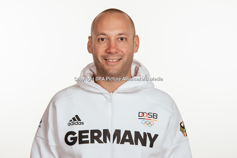 Alexander Schumm poses at a photocall during the preparations for the Olympic Games in Rio at the Emmich Cambrai Barracks in Hanover, Germany, taken on 15/07/16 | usage worldwide