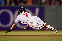 SAN FRANCISCO, CA - JULY 28: Trea Turner #7 of the Washington Nationals dives to steal second base against the San Francisco Giants during the eighth inning at AT&T Park on July 28, 2016 in San Francisco, California.  (Photo by Jason O. Watson/Getty Images) *** Local Caption *** Trea Turner