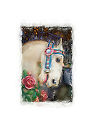 Digital Painting of Carrousel Horses.